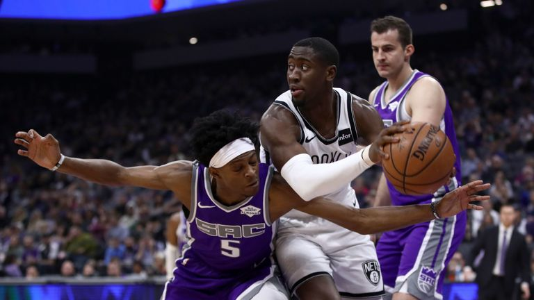 NBA Sacramento Kings v Brooklyn Nets