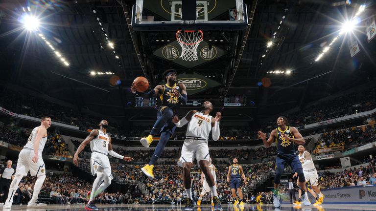 Indiana Pacers v Denver Nuggets from the NBA