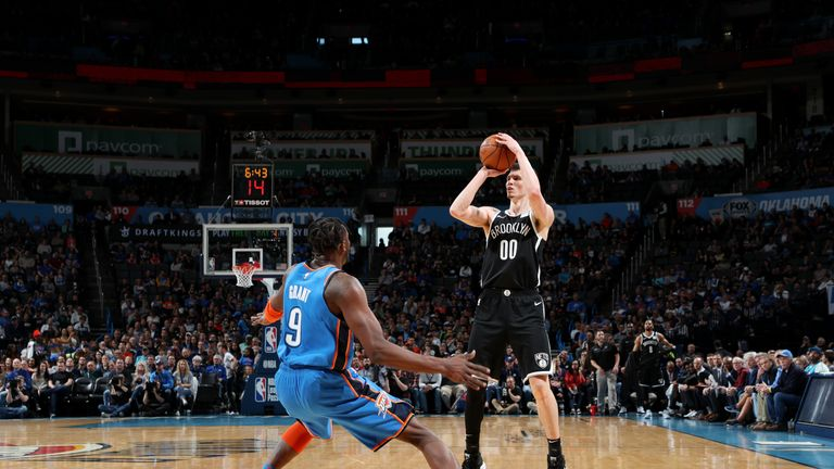 nba oklahoma city thunder v brooklyn nets