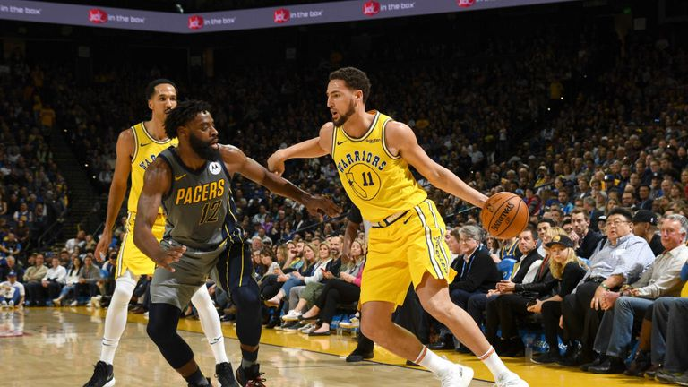NBA Golden State Warriors v Indiana Pacers