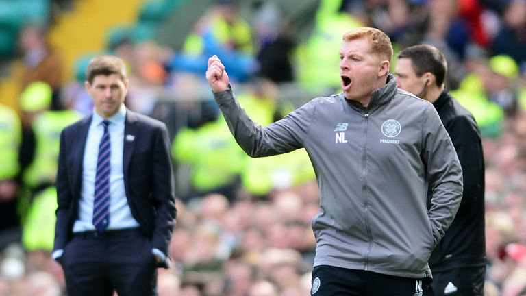 Neil Lennon believes Rangers' Ryan Kent should have been sent off