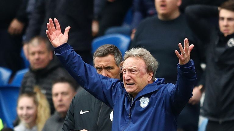 Cardiff manager Neil Warnock vents his fury after his side's 2-1 loss to Chelsea