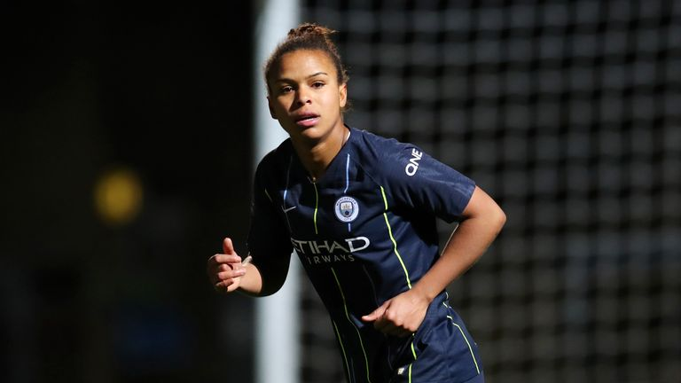 Nikita Parris scored a hat-trick for Manchester City