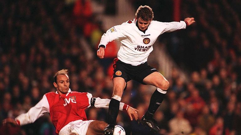 Solskjaer scored the decisive goal for United in his first game at Highbury in 1997