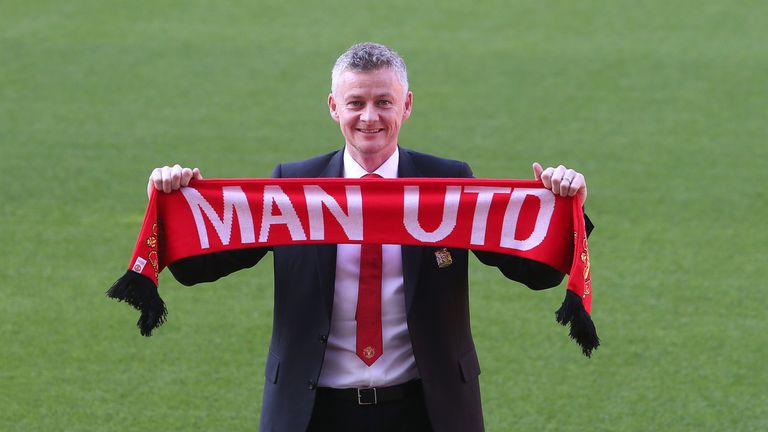 Ole Gunnar Solskjaer has been named Manchester United's full-time manager on a three-year contract