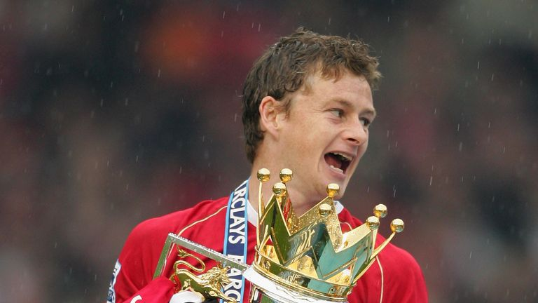 Ole Gunnar Solskjaer of Manchester United of West Ham United during the Barclays Premiership match between Manchester United and West Ham United at Old Trafford on May 13, 2007 in Manchester, England.