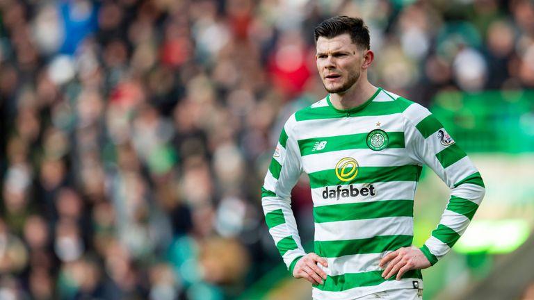 Celtic forward Oliver Burke in action against Aberdeen