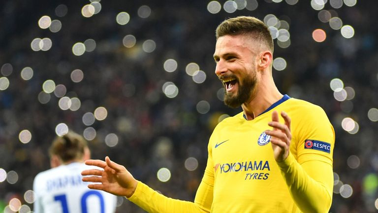 Giroud is now this season's Europa League top scorer