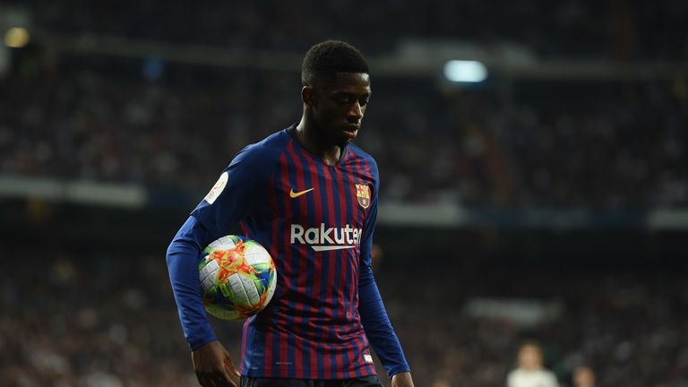 Ousmane Dembele could be set to miss Barcelona's Champions League quarter-final first-leg through injury.