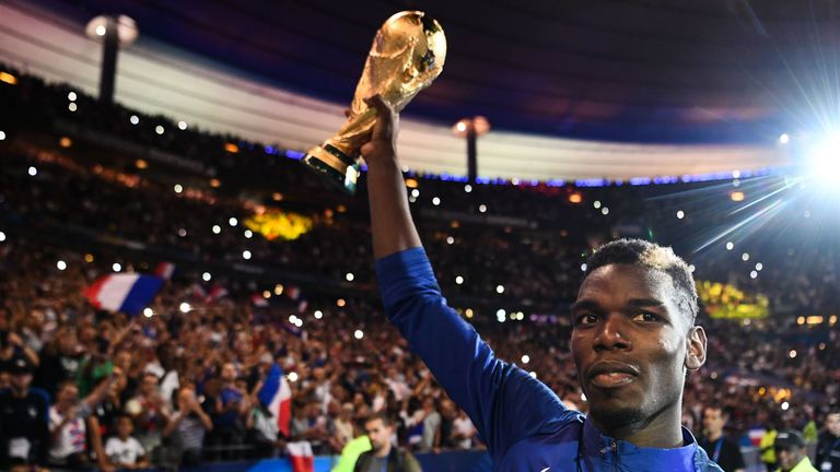 Pogba  played a key role as France won the World Cup in 2018
