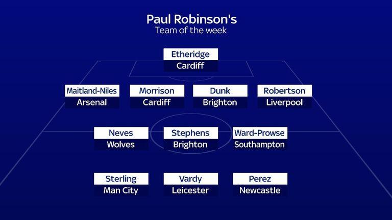 Paul Robinson's Premier League Team of the Week