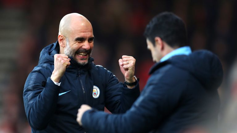 Pep Guardiola's Manchester City are bidding to retain the title