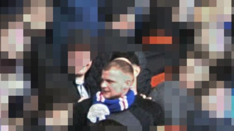 Police looking for man after Aberdeen-Rangers violence at Pittodrie