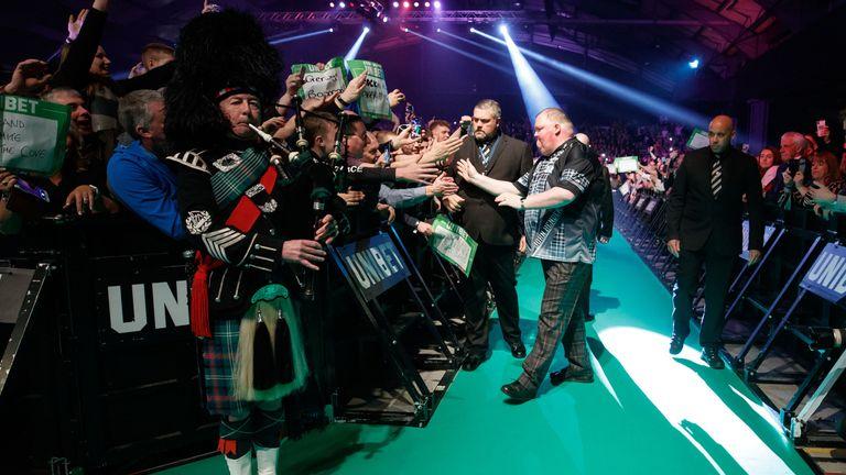 John Henderson played Van Gerwen on a memorable night in Aberdeen last year