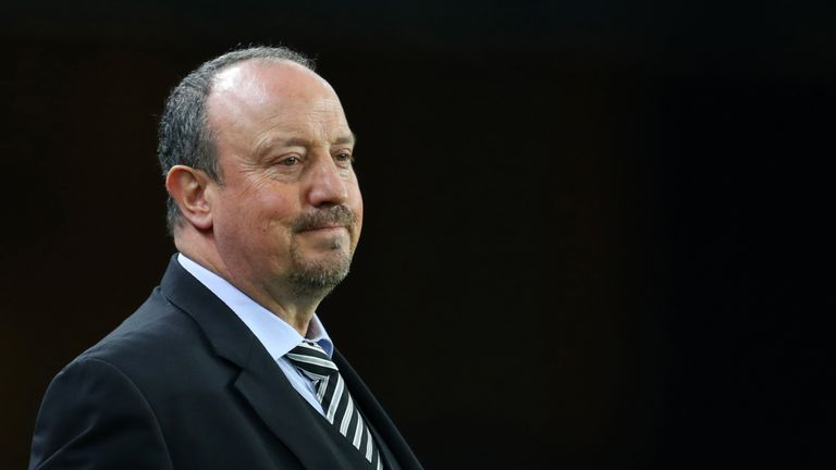 Rafa Benitez will celebrate the third anniversary of his arrival at Newcastle on Monday