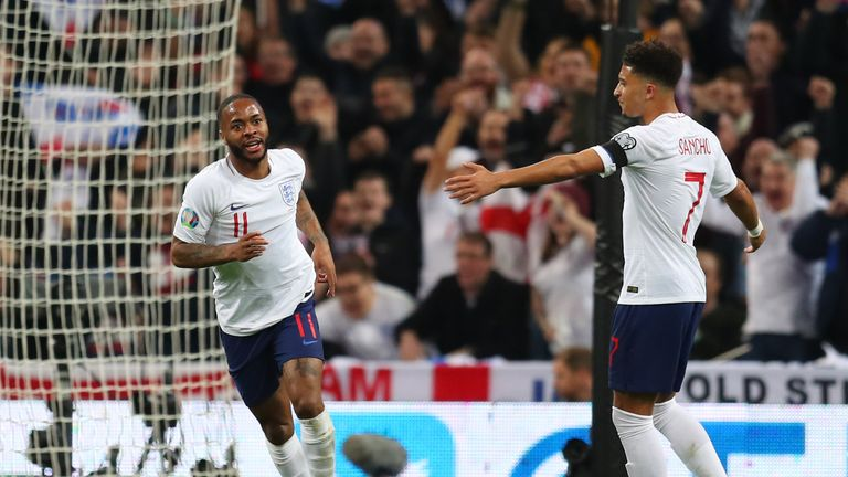 Raheem Sterling's hat-trick was England's first at Wembley in more than eight years