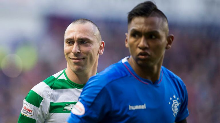 Scott Brown and Alfredo Morelos in the Old Firm