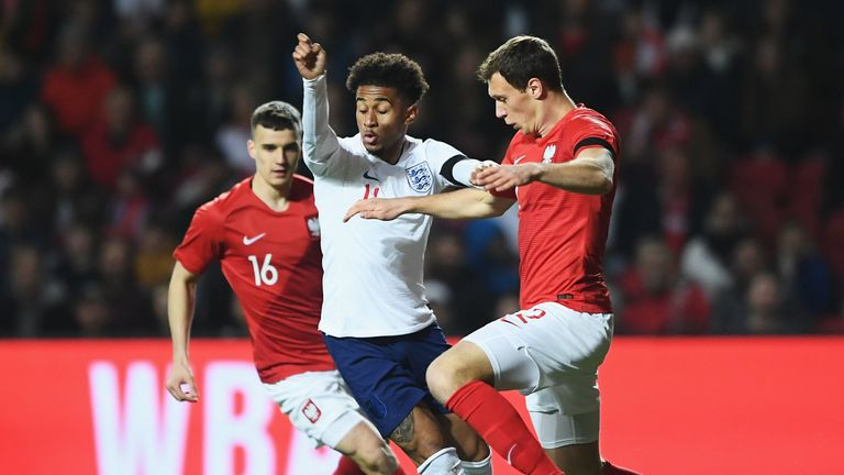 Reiss Nelson impressed down the left for England