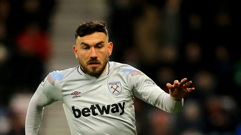West Ham United's Robert Snodgrass in action against Bournemouth in the Premier League