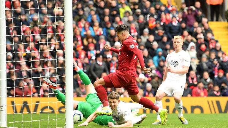 Roberto Firmino equalised for Liverpool from close range