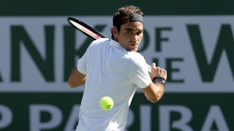 Federer reached his 12th semi-final at Indian Wells