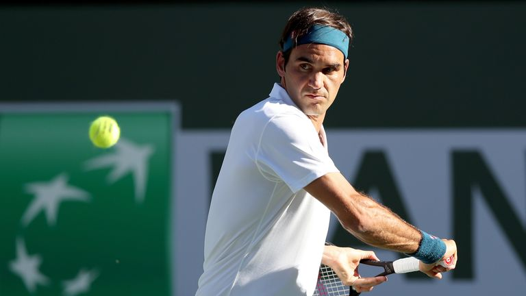 Roger Federer saw his hopes of a record sixth BNP Paribas Open at Indian Wells dashed by Dominic Thiem
