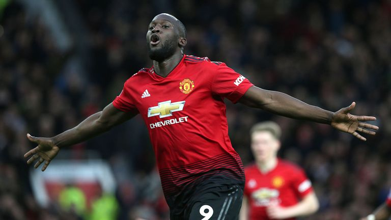 Romelu Lukaku celebrates giving Manchester United a 2-1 lead against Southampton