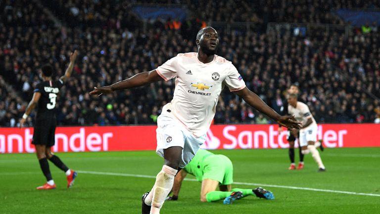Lukaku slotted home his and United's second after Buffon's error