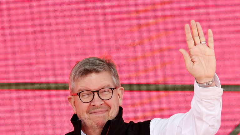 The man with a plan: F1 chief Ross Brawn on stage