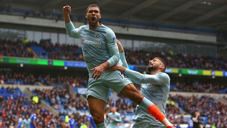 Ruben Loftus-Cheek celebrates his last-gasp winner for Chelsea at Cardiff