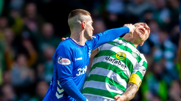 Ryan Kent lashed out at Scott Brown during Celtic's win over Rangers