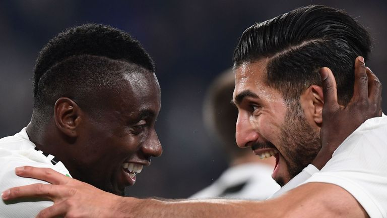 Blaise Matuidi and Emre Can Juventus v Udinese