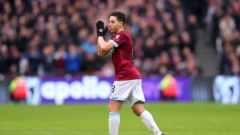 Samir Nasri played in six games for West Ham