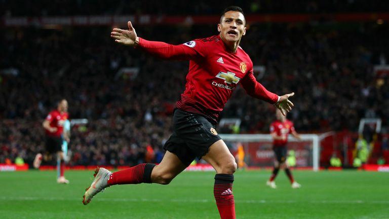 Sanchez celebrates against Newcastle
