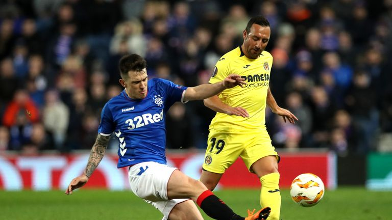 Santi Cazorla in action against Rangers in the Europa League