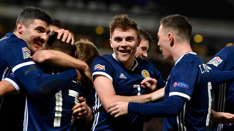 James Forrest scored a hat-trick as Scotland beat Israel 3-2 last November to clinch a play-off place