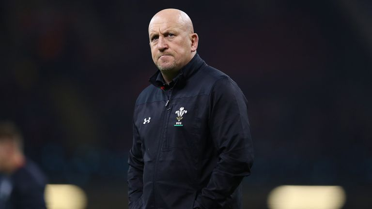 Shaun Edwards, assistant coach of Wales looks on during the International Friendly match between Wales and South Africa at Principality Stadium on November 24, 2018 in Cardiff, United Kingdom