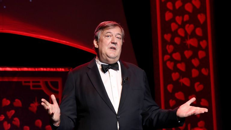 Stephen Fry has sent a message to history-making Ronnie O'Sullivan