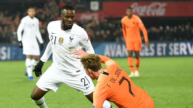 Ndombele has been capped four times by France