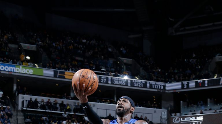 Terrence Ross #31 of the Orlando Magic shoots the ball against the Indiana Pacers on March 2, 2019 at Bankers Life Fieldhouse in Indianapolis, Indiana.