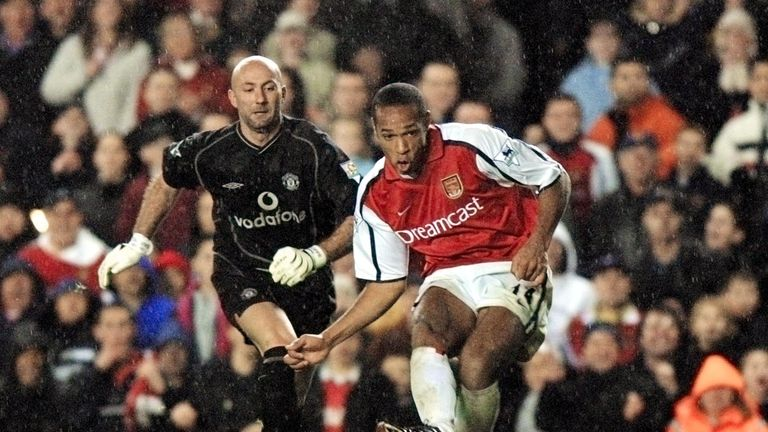 Henry scored 228 goals during his Arsenal career