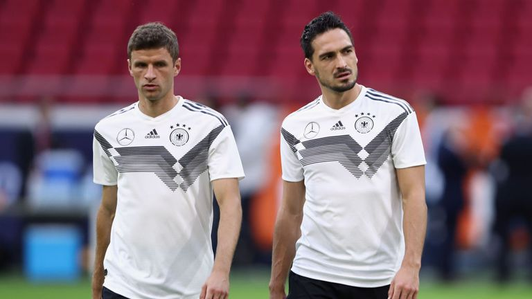"Low says Muller, Hummels and Boateng were ""utterly disappointed"" after being dropped"