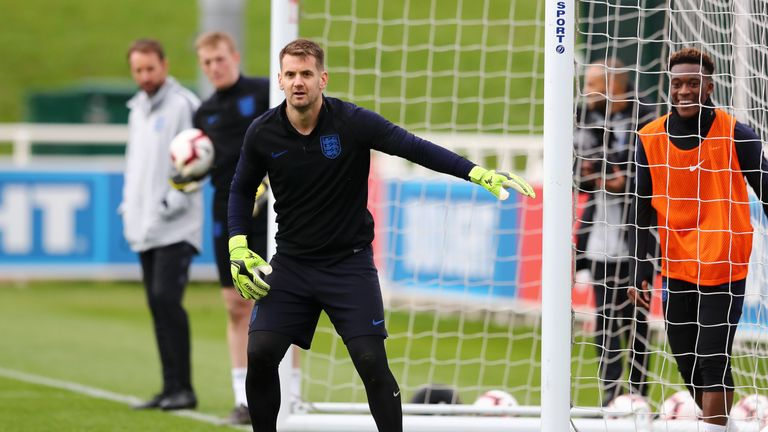 Tom Heaton is back in the England international set-up