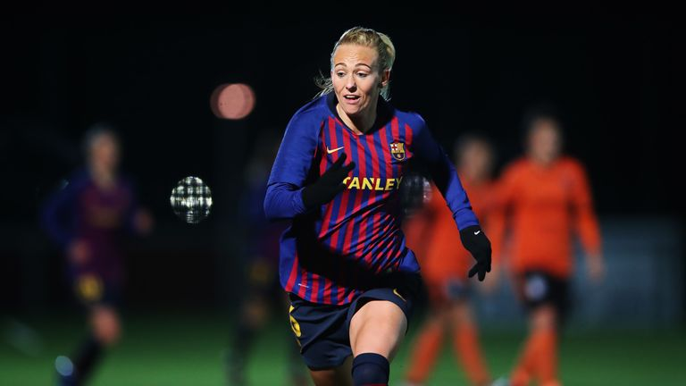 Toni Duggan was also on target for Barcelona during the game against Atletico