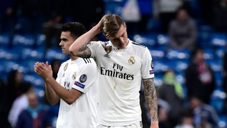 Real Madrid were stunned by Ajax at the Bernabeu