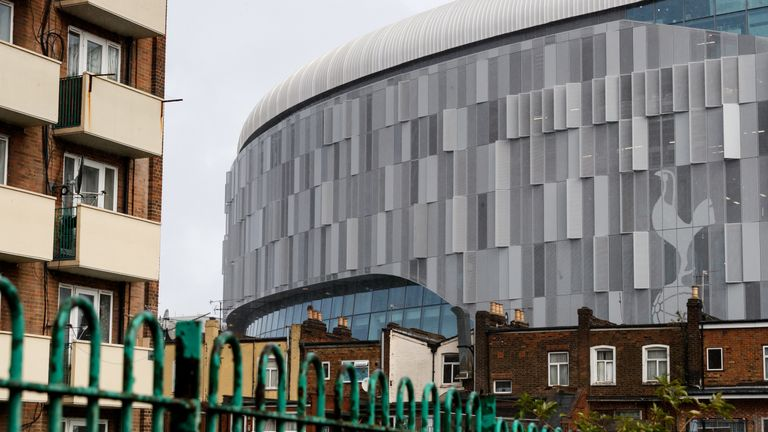 Tottenham's new stadium sits adjacent to the site of the old White Hart Lane