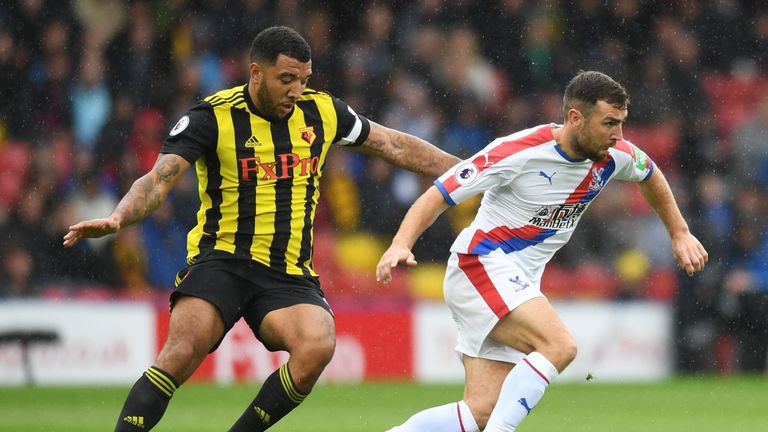 "Striker Troy Deeney said Watford had ""taken it in turns"" to target Zaha"