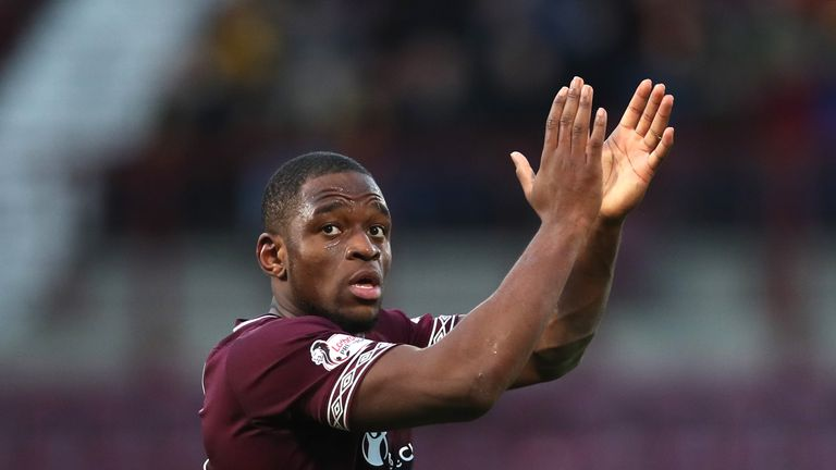 Hearts striker Uche Ikpeazu has two goals in his last three appearances for the club in all competitions