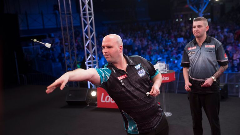 Rob Cross had beaten Michael Smith for a place in his first TV ranking final since winning the world title but fell short against an inspired Aspinall