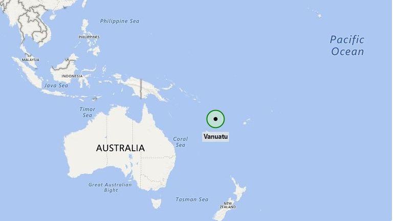 Vanuatu is 2,247 miles from Australia